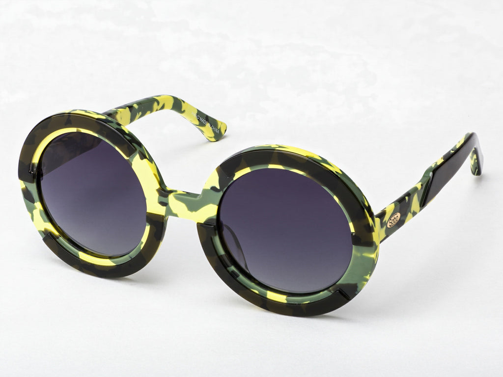 Sobo Sunglasses Camo Frame With Smoke Gradient Lens