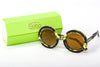 Sobo Sunglasses Camo Frame Mirror Gold Lens & Lime Green Case With Gold Logo