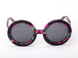 Sobo Sunglasses Pink Camo Frame With Smoke Lens
