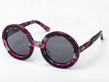 Sobo Sunglasses Pink Camo Frame With Smoke Grey Lens