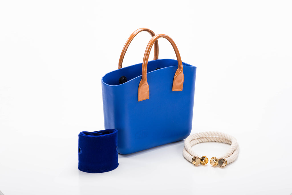 Snorkel Blue Special Set with Amber Handles