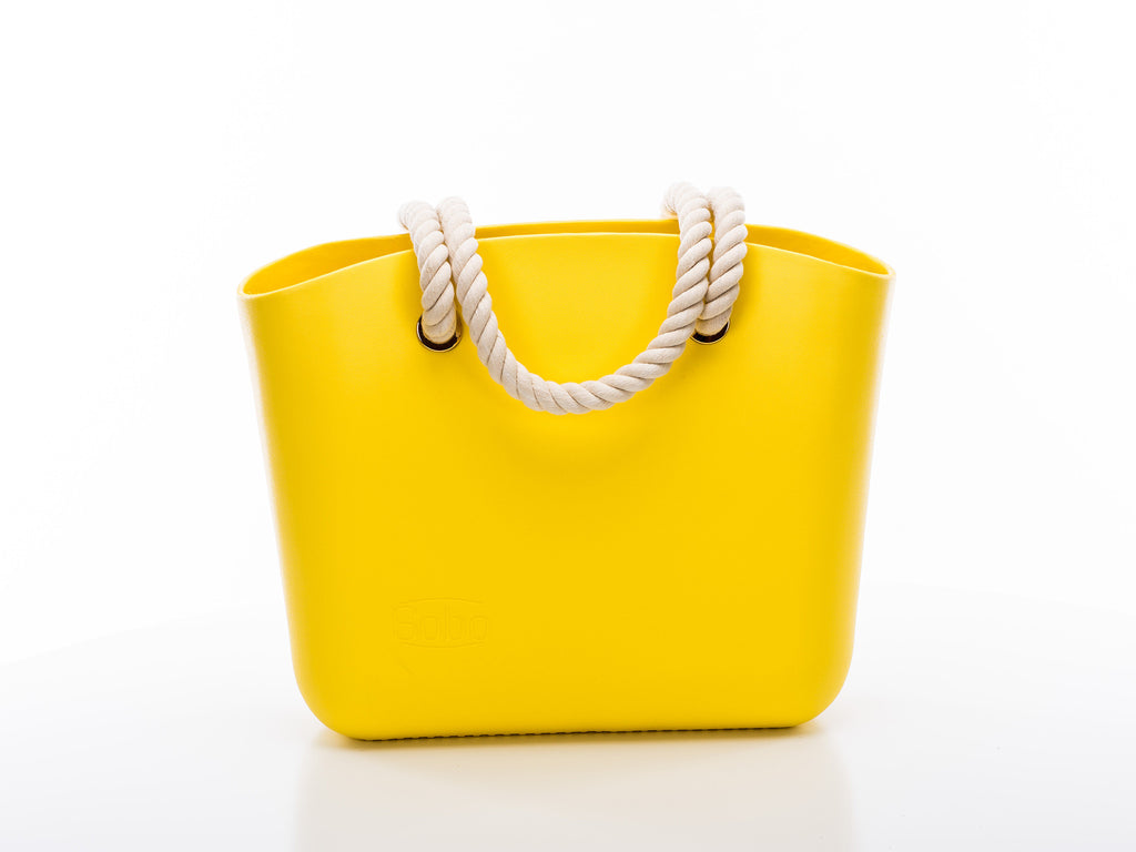 Yellow with White Rope Handles