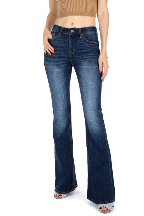 Mid-Rise Kancan Flare Jeans