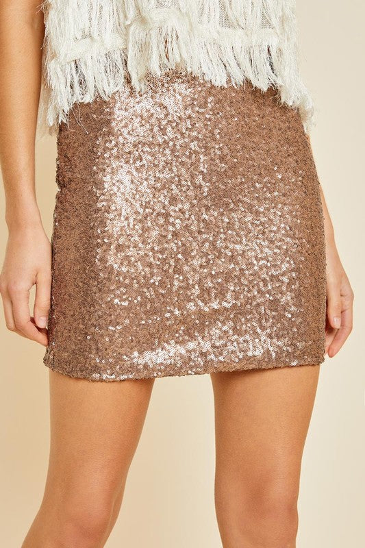 All That Sparkles Sequin Mini Skirt