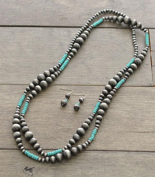 Navajo Bead Necklace Set