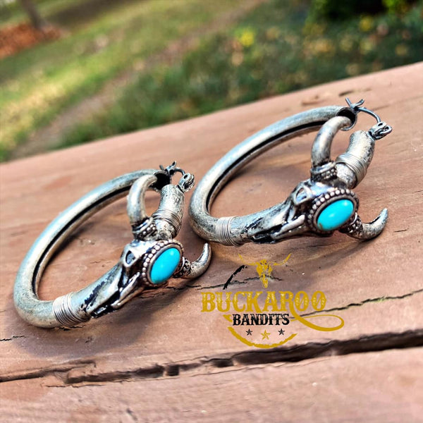 Longhorn Hoop Earrings