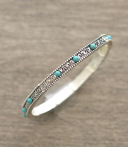 Branded Turquoise Stretch Bracelet