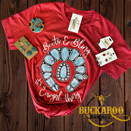 Boots & Bling Cowgirl Tee