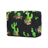 LARGE Floral Cactus Cosmetic Bag