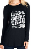 Listen to Johnny Cash Long Sleeve Top