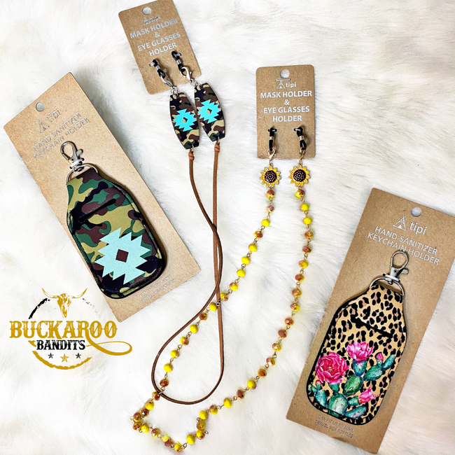 Leopard Cactus Hand Sanitizer Holder Keychain
