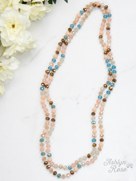 "60"" Bead Necklace - Rose Mix"