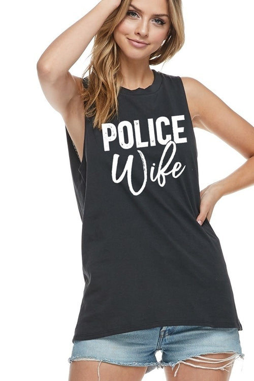 Police Wife Muscle Tank
