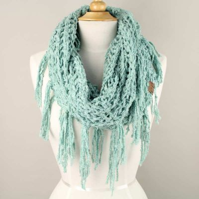 Chenille Infinity Scarf - Mint