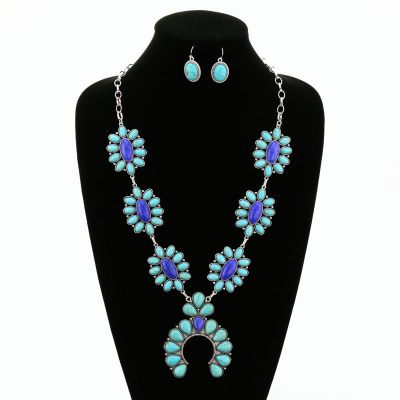 Blue Skies Statement Necklace Set