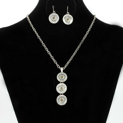 Winchester Dangle Necklace Set - Cowboys & Angels
