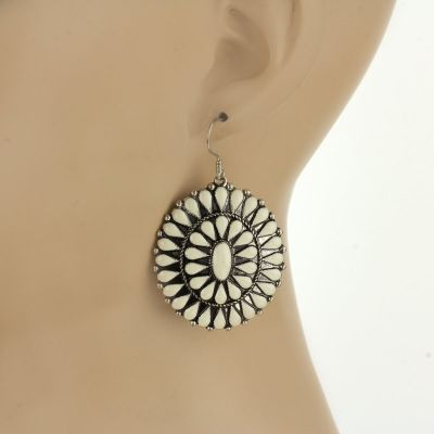 Concho Earrings - Red