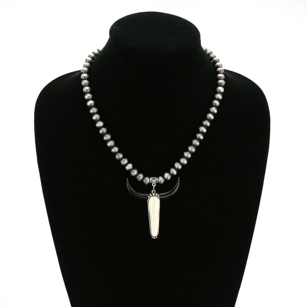 Longhorn Navajo Pearl Necklace