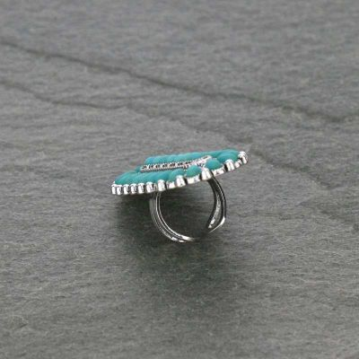 Western Turquoise Cuff Ring