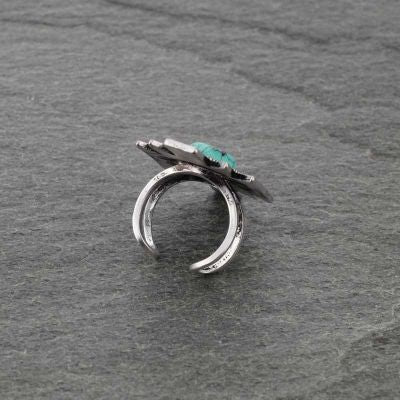 Natural Stone Aztec Adjustable Ring