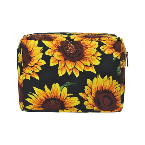 Large Sunflower Cosmetic Bag