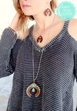 Leather Squash Necklace