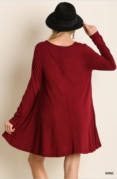 Fall For You Long Sleeve Swing Dress