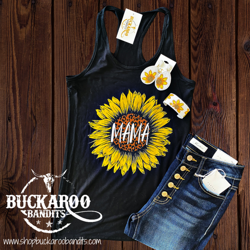 Sunflower Mama Tank Top