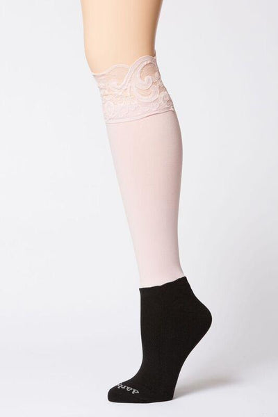 Darbie Lace Knee High Socks - Cowboys & Angels