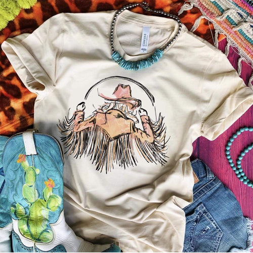Cowgirl Dancing with Fringe Tee