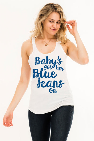 Baby's Got Her Blue Jeans On Tank