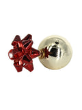 Unwrap Me Bow Stud Earrings - RED