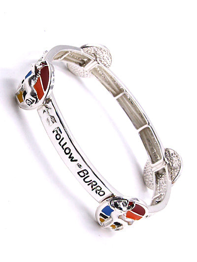 Follow Your Burro Stretch Bracelet