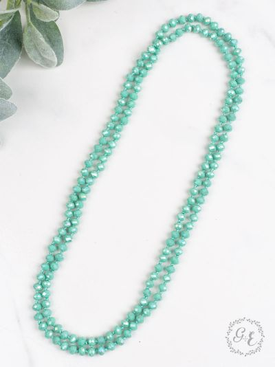 "60"" Bead Necklace - Turquoise"