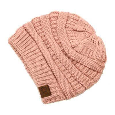 c6252e8ab C.C. Knitted Beanie - Indian Pink – Cowboys & Angels