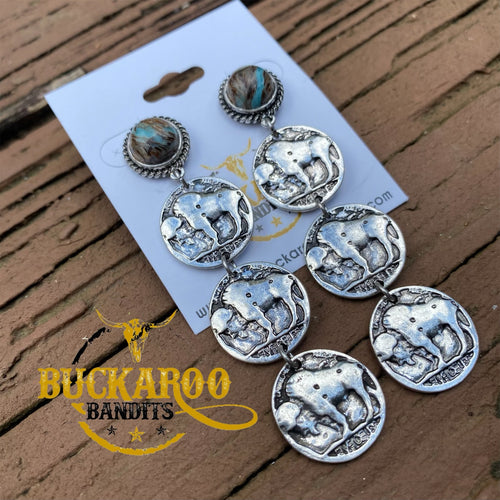 Buffalo Coin Earrings