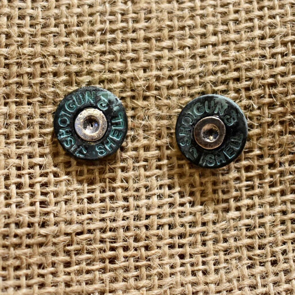 15MM PATINA BULLET EARRINGS