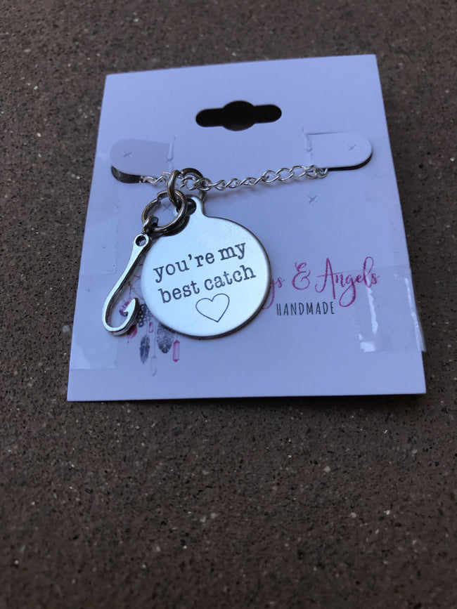 You're My Best Catch Charm Necklace