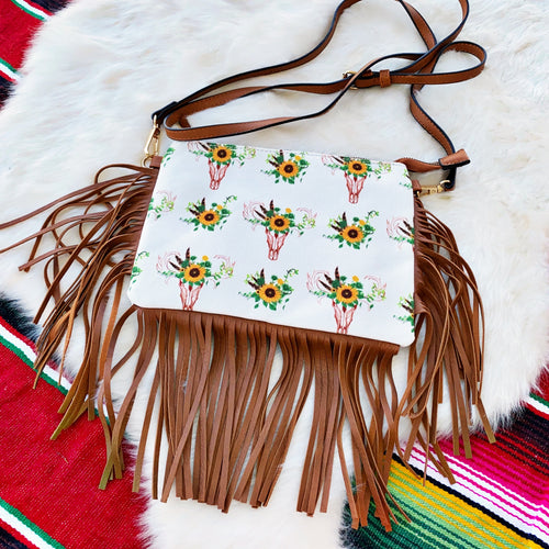 Sunflower Bull Fringe Crossbody