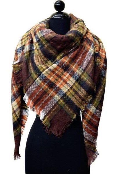 Plaid Blanket Scarf - Multiple Options!