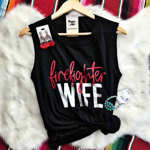 Firefighter Wife Muscle Tank