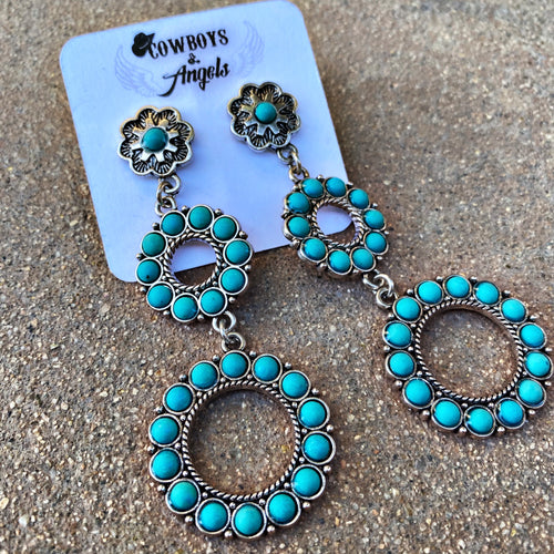 Roam Free Turquoise Earrings