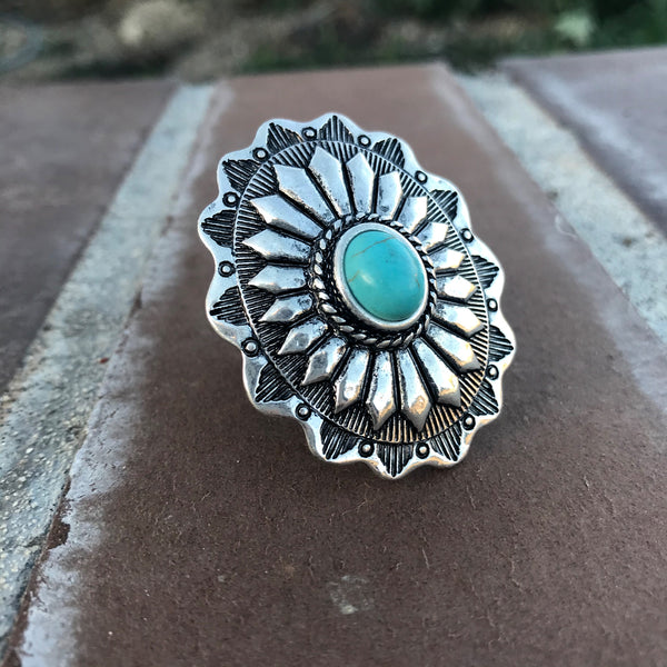 Floral Concho Ring