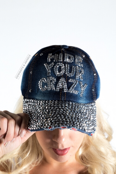 Hide Your Crazy Rhinestone Hat