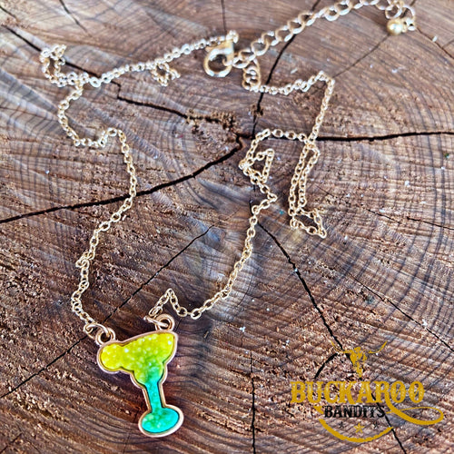 Five O'Clock Somewhere Margarita Necklace