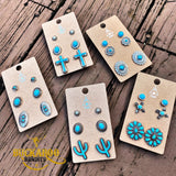 Turquoise Concho Earring Trio Set