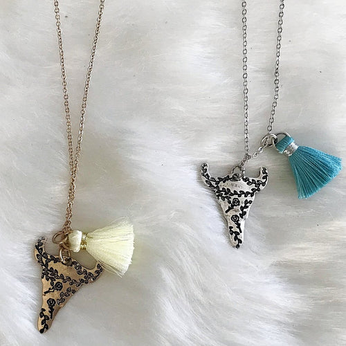 Bull Tassel Necklace Set