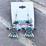 Tribal Print Thunderbird Earrings