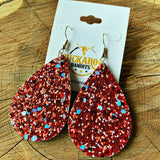 Red Hot Glitter Earrings