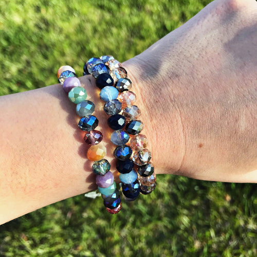 Glass Bead Bracelet Trio Set
